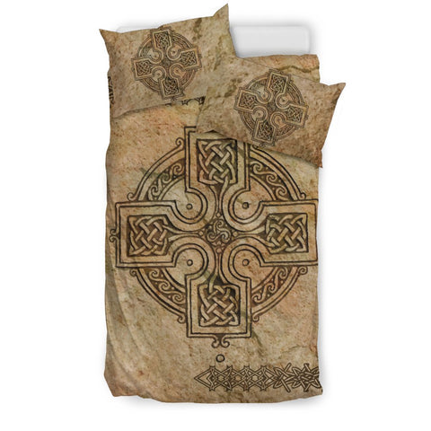 celtic cross vintage pattern, celtic bedding set, celtic duvet cover, celtic symbols