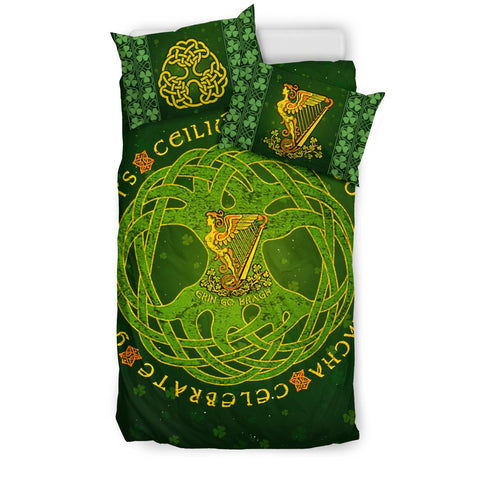 ireland,irish,tree of life,harp,shamrock, irish bedding set