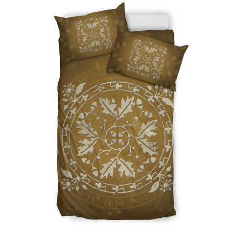 celtic,oak leaf,vintage,bedding set,oak leaf bedding set, celtic bedding set, celtic duvet cover, celtic symbols, celtic leaf
