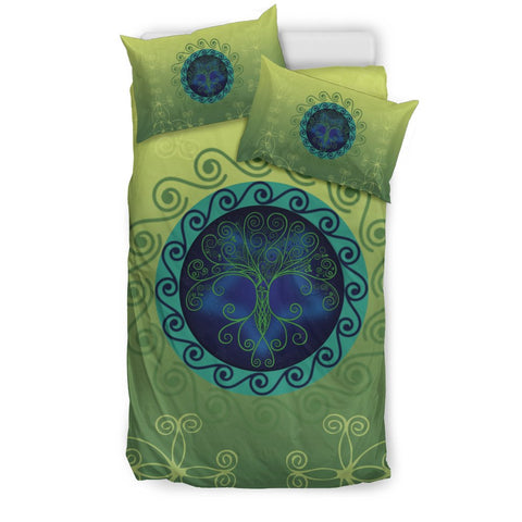 Irish Tree Of Life Bedding Set, Scann Bethadh Duvet Cover And Pillow Case K5