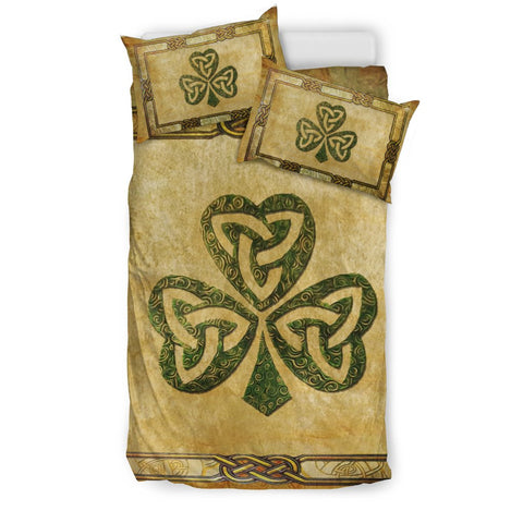 Irish Shamrock Bedding Set, Celtic Knot Duvet Cover And Pillow Case NN5