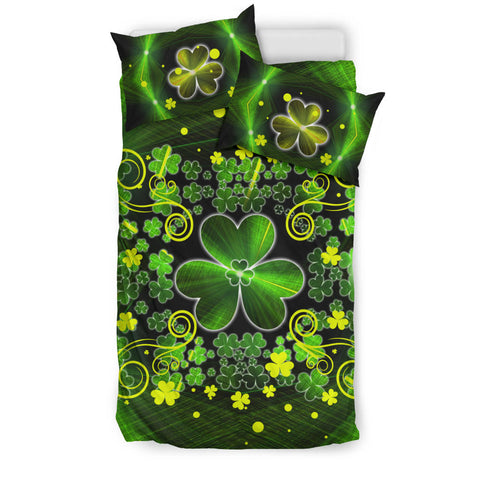Irish Shamrock Abstract Bedding Set with Light Green color - Twin size