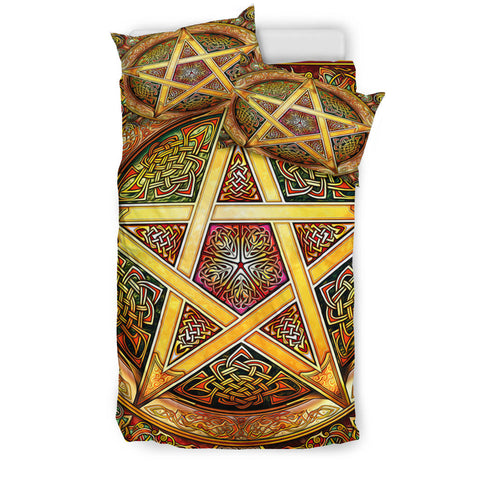 Celtic Star Knot Bedding Set Yellow K4