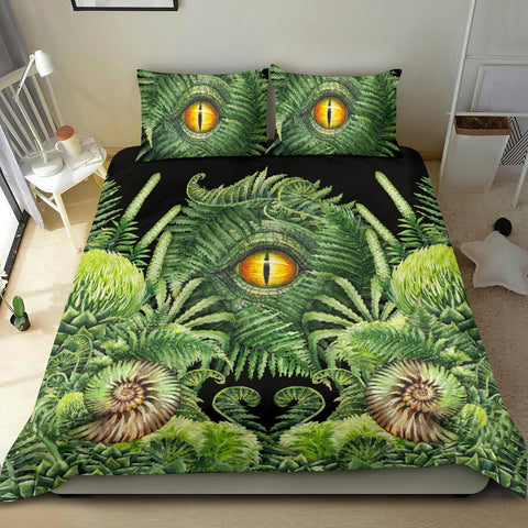 Image of New Zealand Bedding Set Seashell and Fern Eyes K4