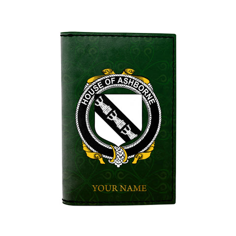 (Laser Personalized Text) Ashborne Family Crest Minimalist Wallet