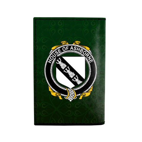 (Laser Personalized Text) Ashborne Family Crest Minimalist Wallet K6