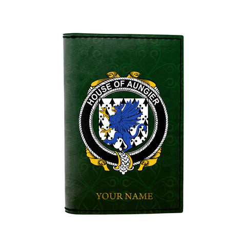 (Laser Personalized Text) Aungier Family Crest Minimalist Wallet