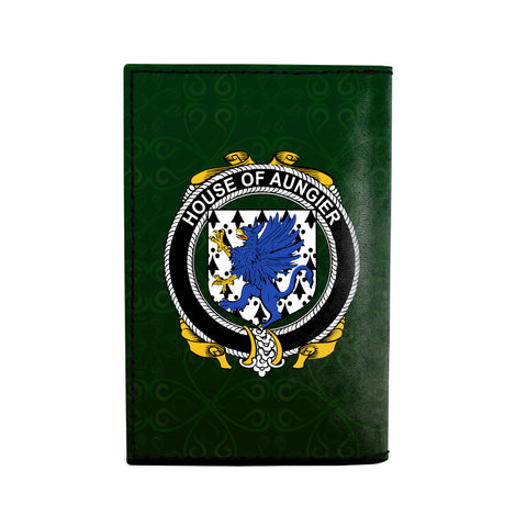 (Laser Personalized Text) Aungier Family Crest Minimalist Wallet K6