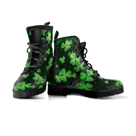 Ireland Celtic Shamrock Leather Boots | Special custom design