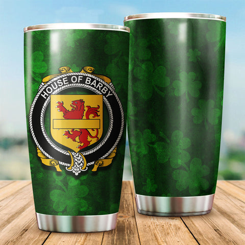 Barby Family Crest Ireland Shamrock Tumbler Cup  K6