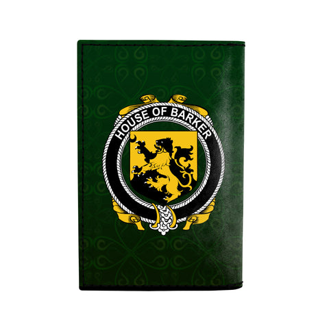 (Laser Personalized Text) Barker Family Crest Minimalist Wallet K6