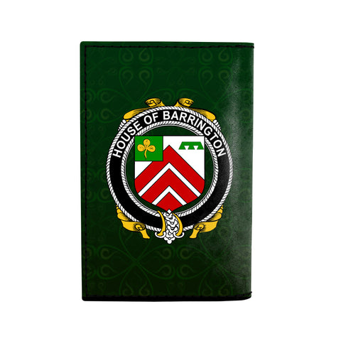 (Laser Personalized Text) Barrington Family Crest Minimalist Wallet K6