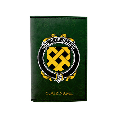 (Laser Personalized Text) Bellew Family Crest Minimalist Wallet