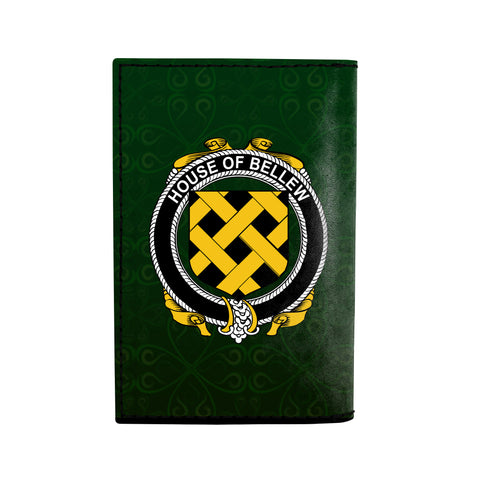 (Laser Personalized Text) Bellew Family Crest Minimalist Wallet K6