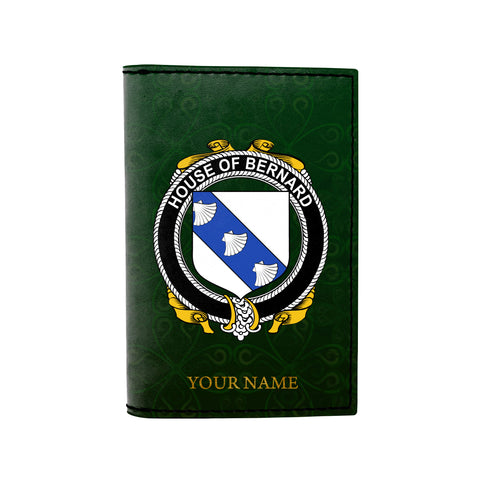 (Laser Personalized Text) Bernard Family Crest Minimalist Wallet