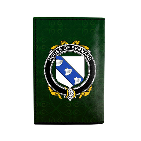 (Laser Personalized Text) Bernard Family Crest Minimalist Wallet K6