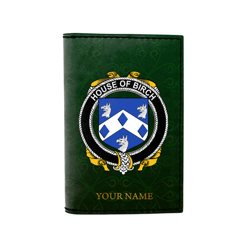 Image of (Laser Personalized Text) Birch Family Crest Minimalist Wallet