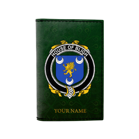 (Laser Personalized Text) Bligh Family Crest Minimalist Wallet