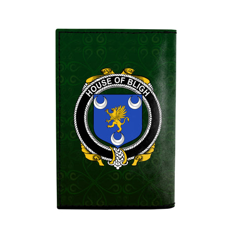 (Laser Personalized Text) Bligh Family Crest Minimalist Wallet K6