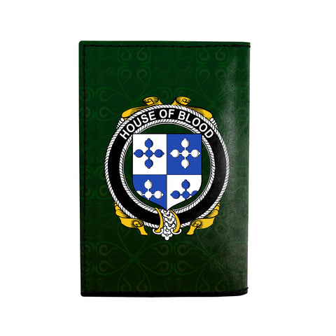 (Laser Personalized Text) Blood Family Crest Minimalist Wallet K6