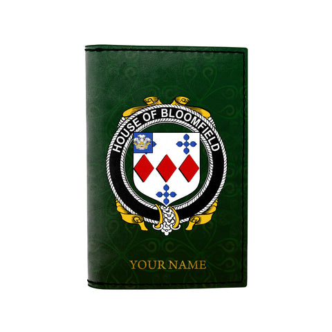 (Laser Personalized Text) Bloomfield Family Crest Minimalist Wallet