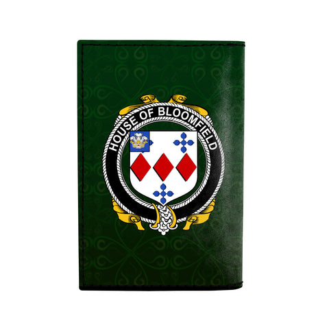 (Laser Personalized Text) Bloomfield Family Crest Minimalist Wallet K6