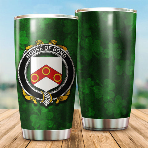 Image of Bond Family Crest Ireland Shamrock Tumbler Cup K K6