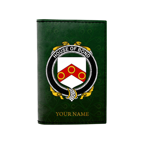 (Laser Personalized Text) Bond Family Crest Minimalist Wallet