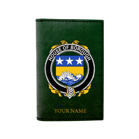 (Laser Personalized Text) Borough Family Crest Minimalist Wallet