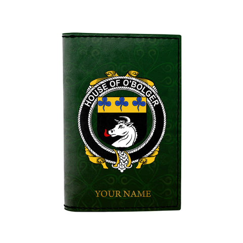 Image of (Laser Personalized Text) Boulger or O'Bolger Family Crest Minimalist Wallet