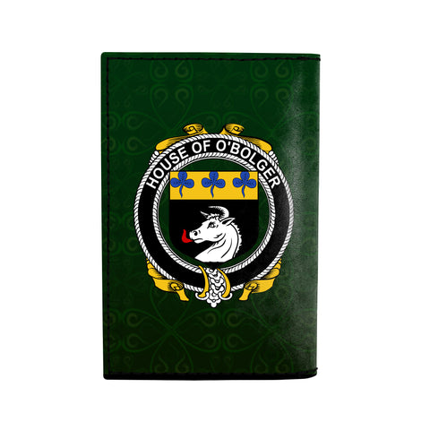 Image of (Laser Personalized Text) Boulger or O'Bolger Family Crest Minimalist Wallet K6