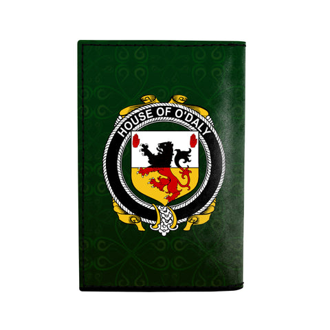 (Laser Personalized Text) Daly or O'Daly Family Crest Minimalist Wallet K6