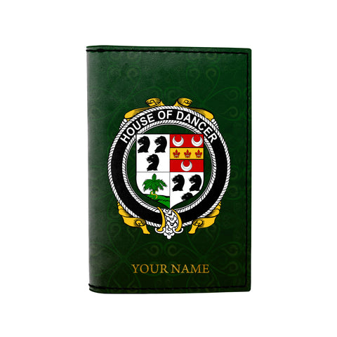 (Laser Personalized Text) Dancer Family Crest Minimalist Wallet