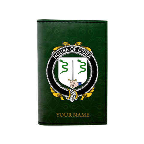 (Laser Personalized Text) Dea or O'Dea Family Crest Minimalist Wallet