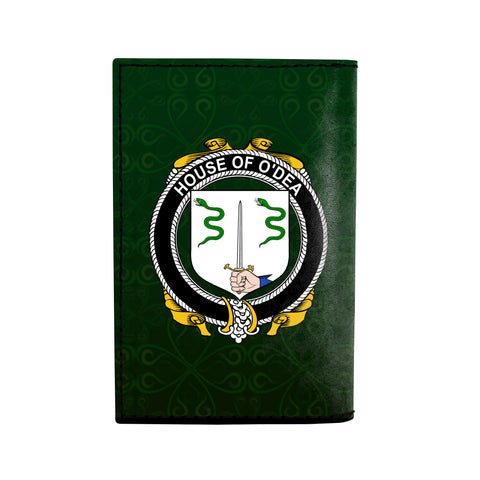 (Laser Personalized Text) Dea or O'Dea Family Crest Minimalist Wallet K6