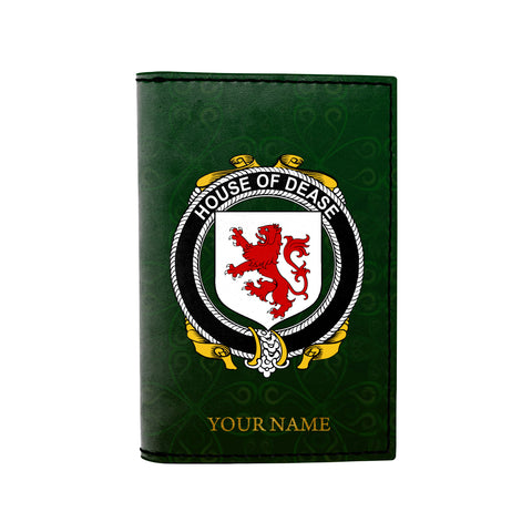 (Laser Personalized Text) Dease Family Crest Minimalist Wallet