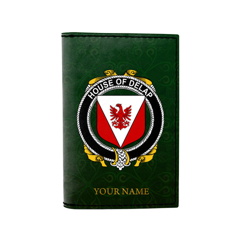(Laser Personalized Text) Delap Family Crest Minimalist Wallet