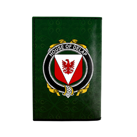 (Laser Personalized Text) Delap Family Crest Minimalist Wallet K6