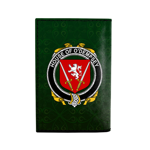 (Laser Personalized Text) Dempsey or O'Dempsey Family Crest Minimalist Wallet K6