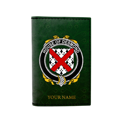 (Laser Personalized Text) Desmond Family Crest Minimalist Wallet