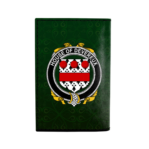 Image of (Laser Personalized Text) Devereux Family Crest Minimalist Wallet K6