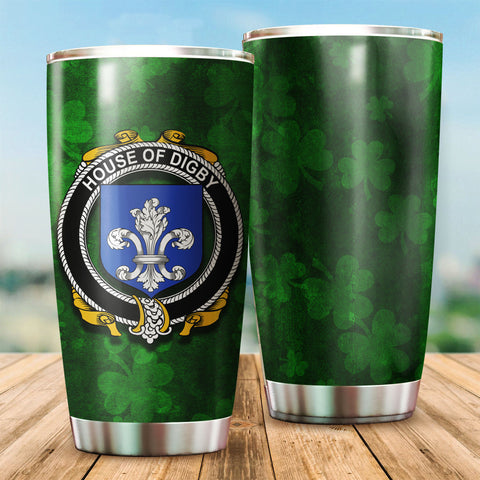 Digby Family Crest Ireland Shamrock Tumbler Cup K6