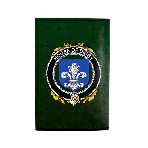 (Laser Personalized Text) Digby Family Crest Minimalist Wallet K6