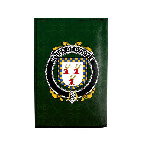 (Laser Personalized Text) Doyle or O'Doyle Family Crest Minimalist Wallet K6