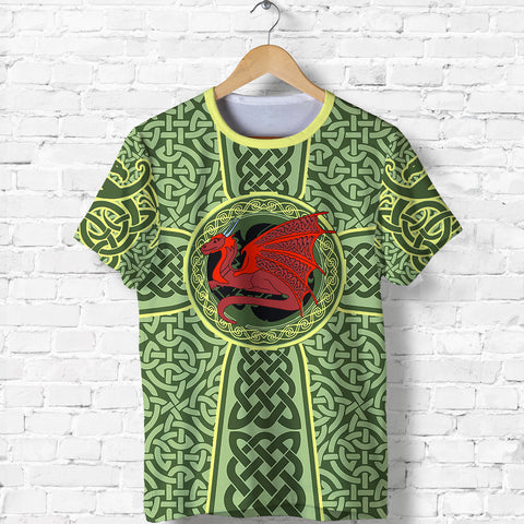 Irish Celtic T Shirt, Celtic Cross Dragon Shirt K5