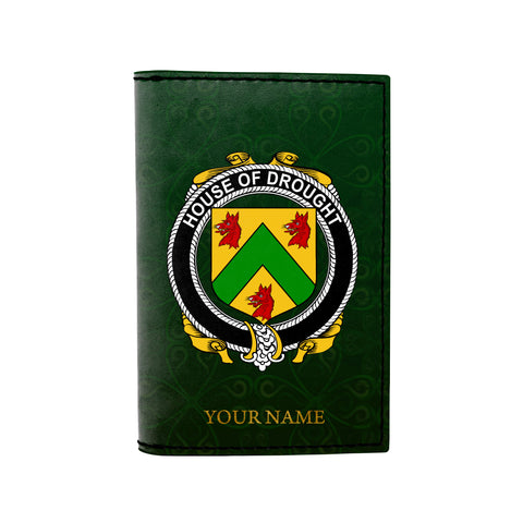 (Laser Personalized Text) Drought Family Crest Minimalist Wallet