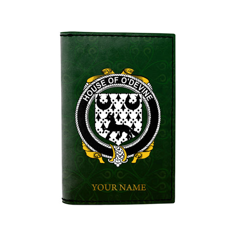 (Laser Personalized Text) Duane or O'Devine Family Crest Minimalist Wallet