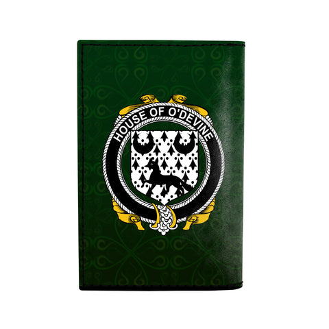 (Laser Personalized Text) Duane or O'Devine Family Crest Minimalist Wallet K6