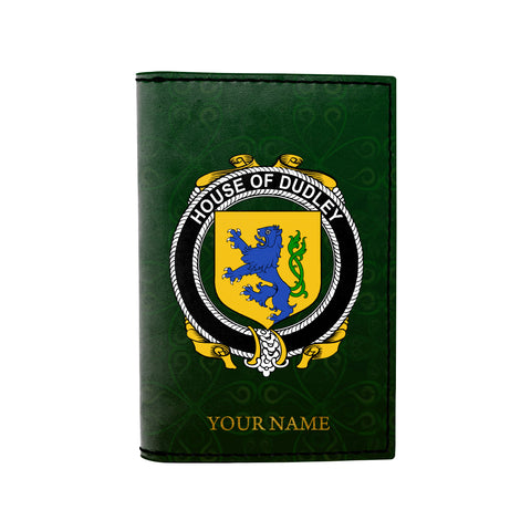 (Laser Personalized Text) Dudley Family Crest Minimalist Wallet