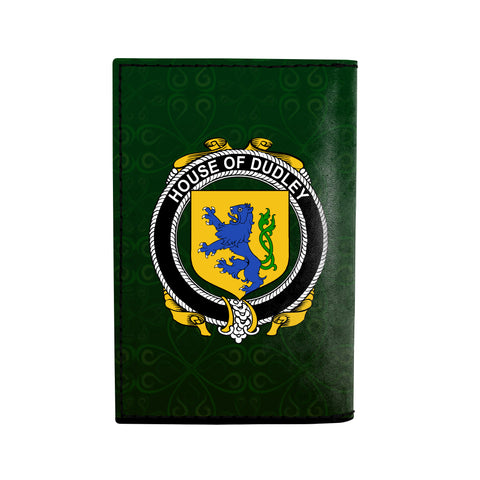 (Laser Personalized Text) Dudley Family Crest Minimalist Wallet K6